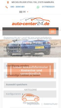Vorschau der mobilen Webseite www.ring-autocenter.com, Ring-Autocenter GmbH