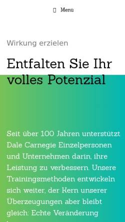 Vorschau der mobilen Webseite dalecarnegie.ch, Dale Carnegie Training