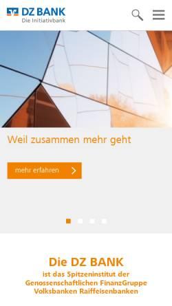 Vorschau der mobilen Webseite www.dzbank.de, DZ Bank