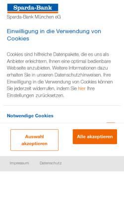 Vorschau der mobilen Webseite www.sparda-m.de, Sparda-Bank München eG