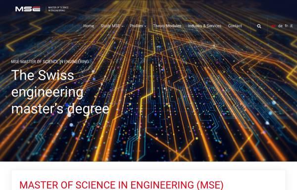 Vorschau von www.msengineering.ch, Master-Studiengang Ingenieurwissenschaften FH