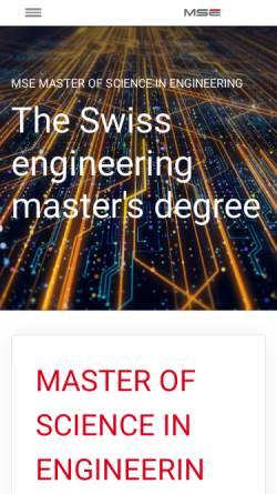 Vorschau der mobilen Webseite www.msengineering.ch, Master-Studiengang Ingenieurwissenschaften FH