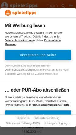 Vorschau der mobilen Webseite wow.gamona.de, WorldOfWar.de