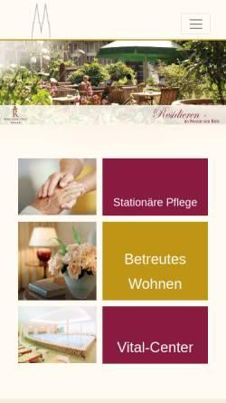 Vorschau der mobilen Webseite www.residenz-am-dom.de, Residenz am Dom Gemeinnützige Betriebsgesellschaft mbH