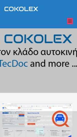 Vorschau der mobilen Webseite www.cokolex.com, Cokolex Automobiltechnische Übersetzungen - C. Kolimenos & Co. oHG