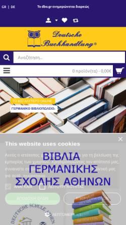 Vorschau der mobilen Webseite www.deutschebuchhandlung.gr, Deutsche Buchhandlung
