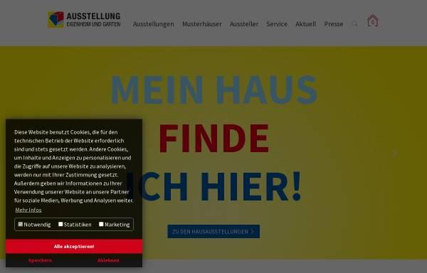 Vorschau von www.musterhaus-online.de, Ausstellung Eigenheim und Garten Betriebsgesellschaft mbH