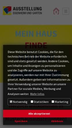 Vorschau der mobilen Webseite www.musterhaus-online.de, Ausstellung Eigenheim und Garten Betriebsgesellschaft mbH
