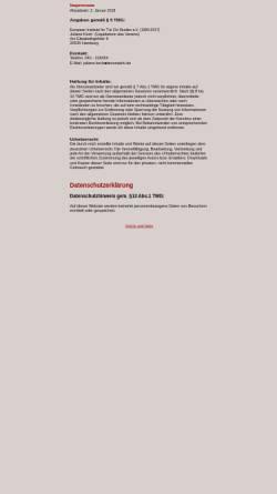 Vorschau der mobilen Webseite www.eurotaichi.de, European Institute for T'ai Chi Studies e.V.
