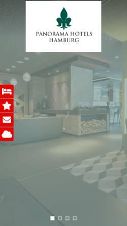Vorschau der mobilen Webseite www.panorama-hotels-hamburg.de, Hotel-Panorama-Inn Billstedt und Harbung