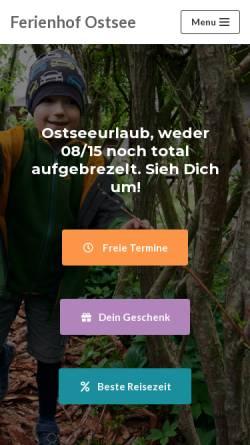 Vorschau der mobilen Webseite www.ferienhof-ostsee.net, Ferienhof Kleingarn