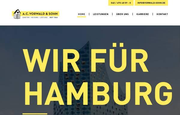 Vorschau von www.vorwald-sohn.de, A.C.Vorwald & Sohn GmbH
