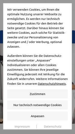 Vorschau der mobilen Webseite www.arnovogel.de, Arno Vogel, Sanitärtechnik-Team