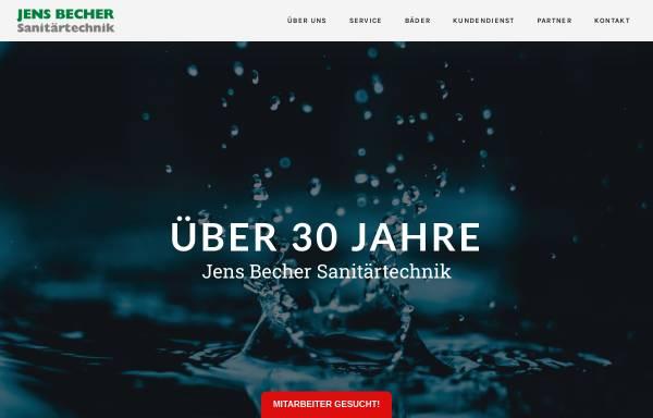 Vorschau von www.jens-becher-sanitaer.de, Jens Becher Sanitärtechnik