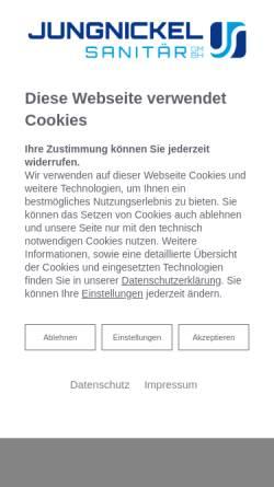 Vorschau der mobilen Webseite www.jungnickel-sanitaer.de, Jungnickel Sanitär GmbH