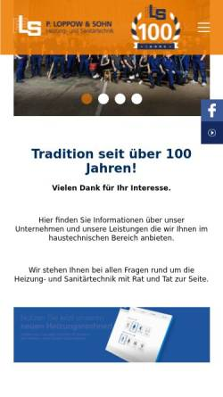 Vorschau der mobilen Webseite www.loppow.de, Loppow und Sohn Heizungstechnik
