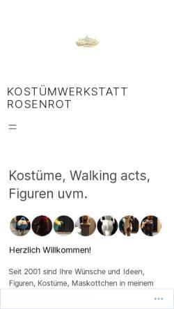 Vorschau der mobilen Webseite www.atelier-rosenrot.de, Atelier Rosenrot