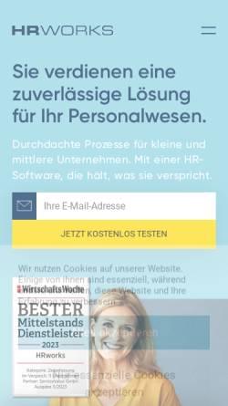 Vorschau der mobilen Webseite www.hrworks.de, HRworks GmbH