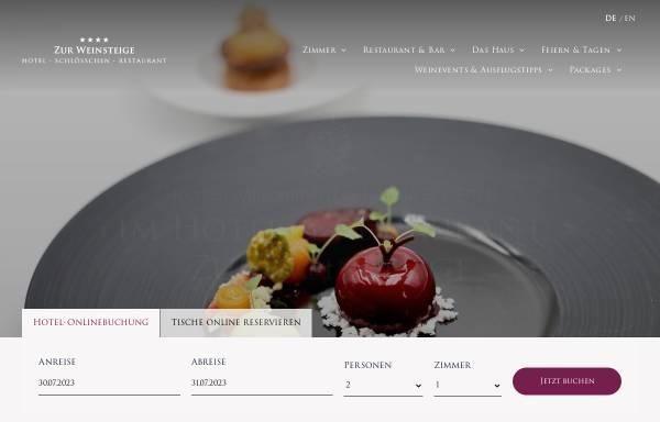 Vorschau von www.zur-weinsteige.de, Hotel Zur Weinsteige