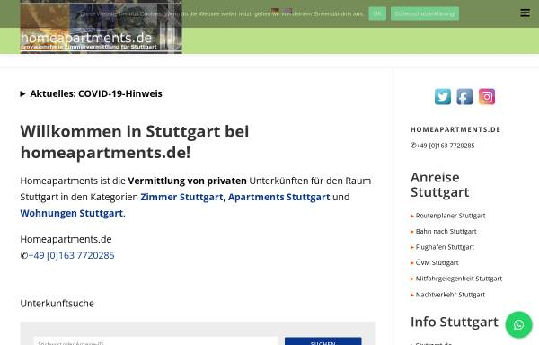 Vorschau von www.homeapartments.de, Homeapartments.de
