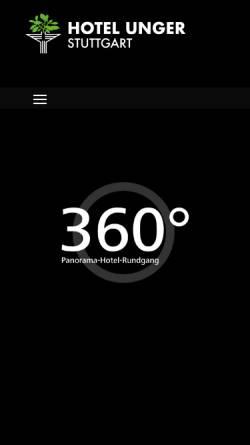 Vorschau der mobilen Webseite www.hotel-unger.de, Hotel Garni Unger