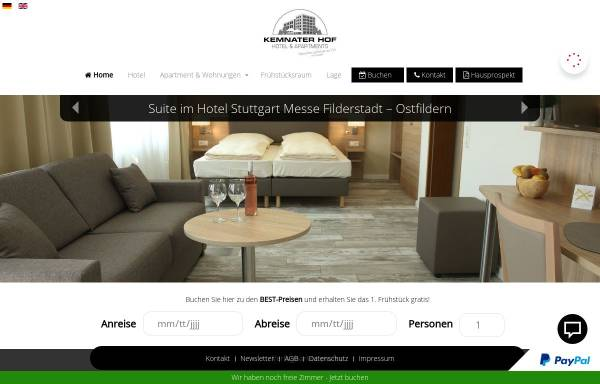 Vorschau von www.kemnaterhof.de, Hotel Kemnater Hof