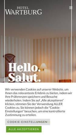 Vorschau der mobilen Webseite www.hotel-wartburg-stuttgart.de, Hotel Wartburg