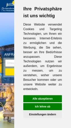 Vorschau der mobilen Webseite www.schwaben-stern.de, Privatzimmervermittlung Carmen Maier