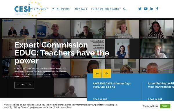 Vorschau von www.cesi.org, Europäische Union Unabhängiger Gewerkschaften [CESI]