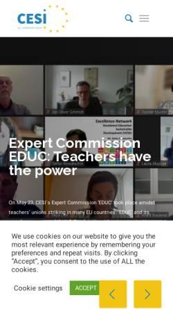 Vorschau der mobilen Webseite www.cesi.org, Europäische Union Unabhängiger Gewerkschaften [CESI]