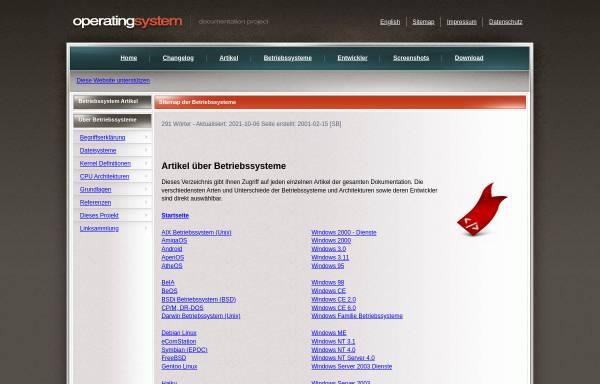 Vorschau von www.operating-system.org, Operating-System.org