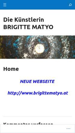 Vorschau der mobilen Webseite brigittematyo.wordpress.com, Austrotux - Brigitte Matyo