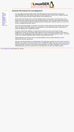 Vorschau der mobilen Webseite www.linuxger.de, IRC - #LinuxGER