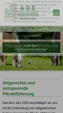 Vorschau der mobilen Webseite www.futterautomaten.com, ADE - Dieter Ernst