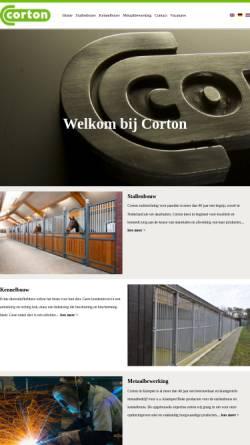 Vorschau der mobilen Webseite www.corton.nl, Corton Pferdeboxen