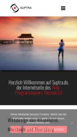 Vorschau der mobilen Webseite www.suptra.de, Thomas Erl, Suptra.de