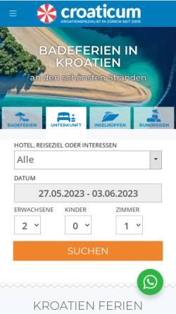 Vorschau der mobilen Webseite www.croaticum.ch, Croaticum