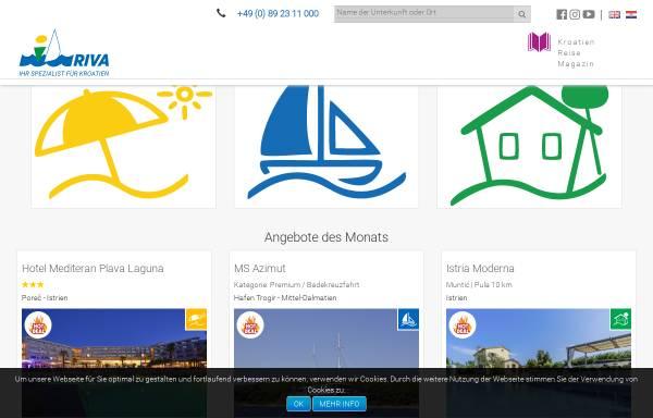 Vorschau von www.kroatien-idriva.de, I.D. Riva Tours GmbH