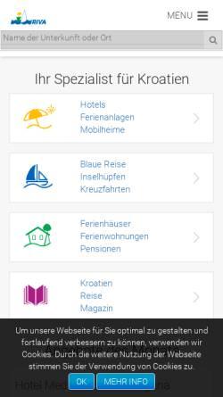 Vorschau der mobilen Webseite www.kroatien-idriva.de, I.D. Riva Tours GmbH