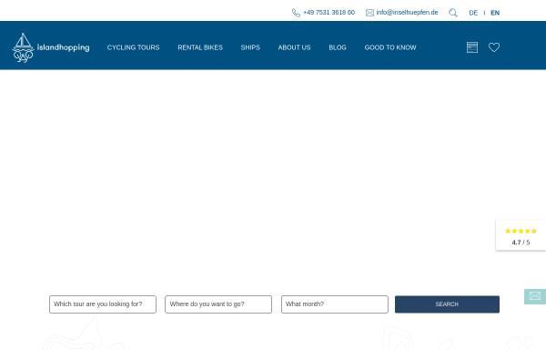 Vorschau von www.inselhuepfen.de, Inselhüpfen in Kroatien