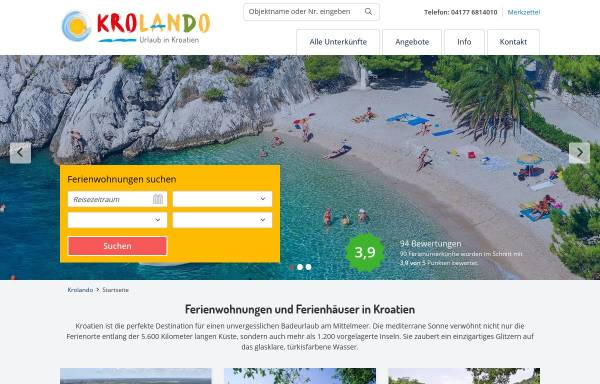 Vorschau von www.kroadria.de, KroAdria, Ivan Pintaric