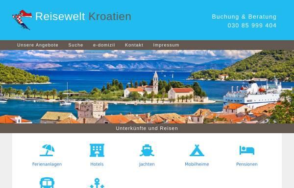 Vorschau von www.reisewelt-kroatien.de, Reisewelt Kroatien
