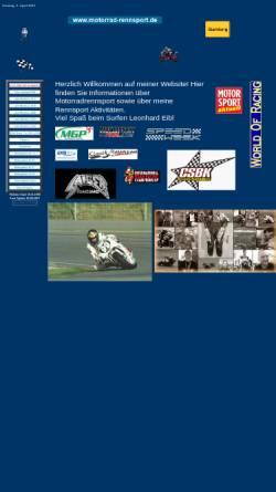 Vorschau der mobilen Webseite www.motorrad-rennsport.de, Eibl, Leonhard