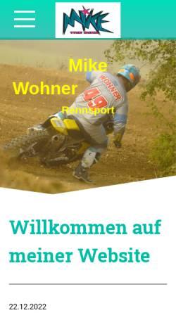Vorschau der mobilen Webseite www.mikewohner.at, Wohner, Mike