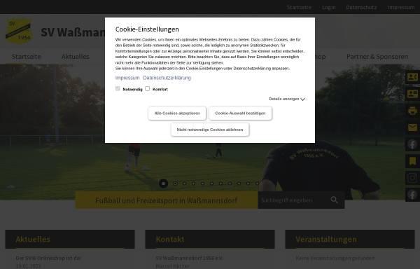 Vorschau von www.svwassmannsdorf.de, SV Waßmannsdorf 1956 e. V. - Fussball und Freizeitsport
