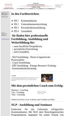 Vorschau der mobilen Webseite www.akademie-pontius.de, Pontius - Akademie für Persönlichkeitsentfaltung