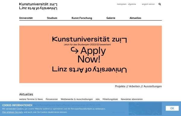 Vorschau von www.ufg.ac.at, Institut für Kunst und Gestaltung (TEXTIL)