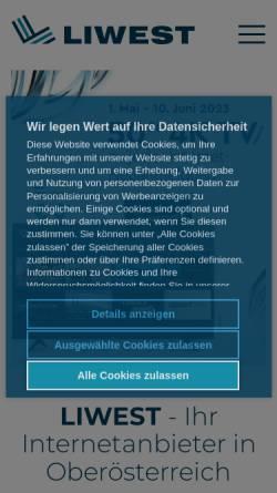 Vorschau der mobilen Webseite members.liwest.at, Brigitte Gatterbauer
