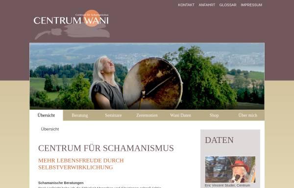 Vorschau von www.centrum-wani.ch, Centrum Wani - Das Centrum für Schamanismus