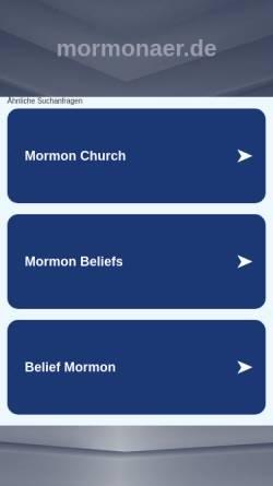 Vorschau der mobilen Webseite www.mormonaer.de, Wer wird Mormonär
